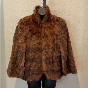 F. Marcroft & Son Vintage Fur Shrug Cape Jacket